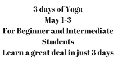 3 days of Yoga Immersion