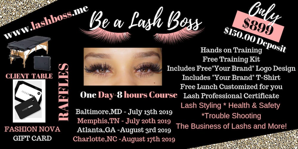 Become A Lash Boss Today!!