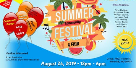 Summer Festival & Community Fair 2019 tickets