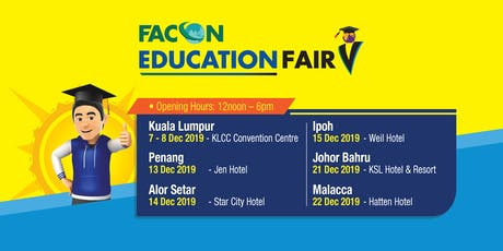 Facon Education Fair December 2019 - Penang tickets