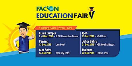 Facon Education Fair December 2019 - Johor Bahru tickets