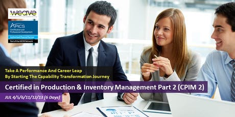 [6 Days] Certified in Production & Inventory Management Part 2 (CPIM 2) tickets