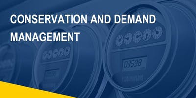 Conservation and Demand Management Plan Training Session - OTTAWA