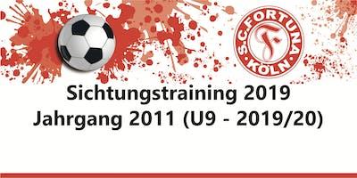 Sichtungstraining Jahrgang 2011 - SC Fortuna Köln - U9 2019/20