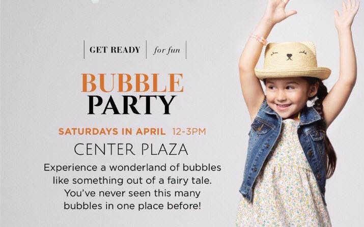 Bubble Party at Kierland Commons