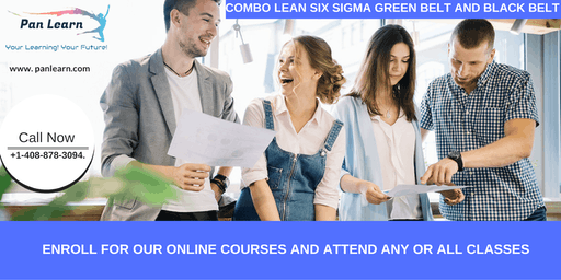 Combo Lean Six Sigma Green Belt and Black Belt Certification Training In Palmdale, CA