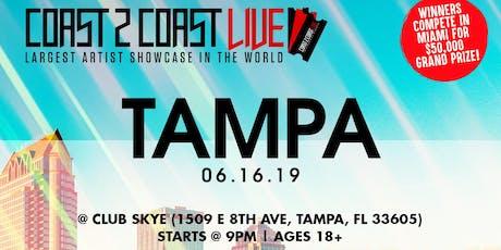 Coast 2 Coast LIVE Artist Showcase Tampa, FL - $50K Grand Prize tickets