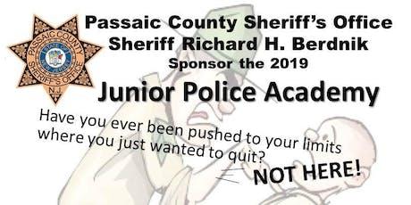 Passaic County Sheriff's Office Junior Police Academy 2019 tickets
