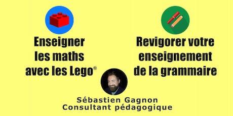 Enseigner les maths avec LEGO et/ou Enseignement de la grammaire (Québec) tickets