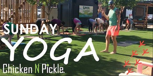 Sunday Yoga in the Game Yard