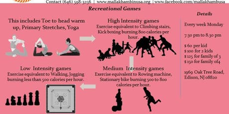 Recreational Games Fitness tickets
