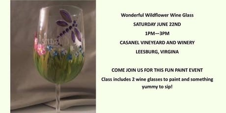 Wildflowers & Dragonfly Wine Glass Painting Class with Dawn Spruill tickets