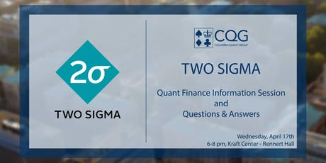 Columbia Quant Group - CQG Events | Eventbrite