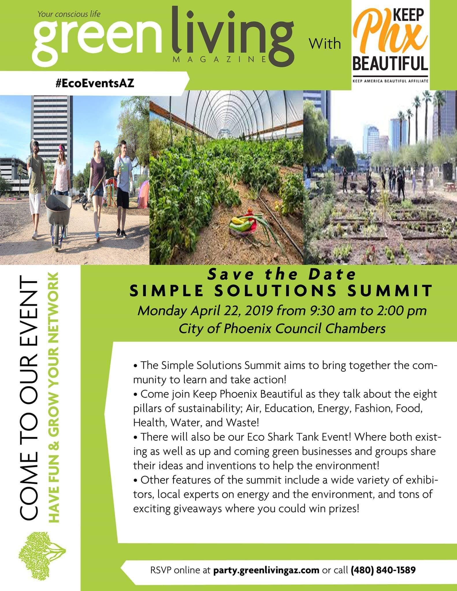 Earth Day Simple Solutions Summit with Keep Phoenix Beautiful