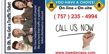 DMV Approved Defensive Driving Course Suffolk Virginia  tickets