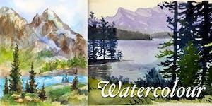 Watercolour Fundamentals - Alberta Landscape - Lori...