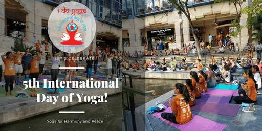 5th International Day of Yoga @ Rivercenter Mall