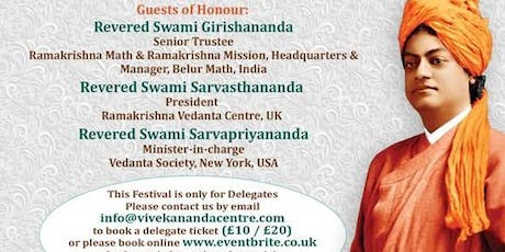 Vivekananda Festival 2019 London tickets