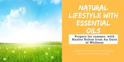 Natural Lifestyle with Essential Oils Workshop with Hayley Relton from an Oasis of Wellness - Prepare for Summer (Skin Care)