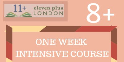 One Week 8+ Intensive Course  (21st October 2019 -