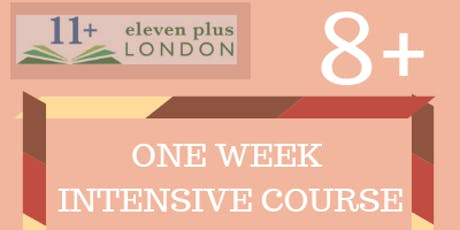 One Week 8+ Intensive Course  (21st October 2019 - 25th October 2019) tickets
