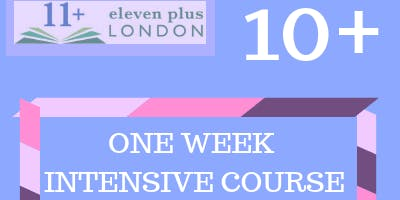 One Week 10+ Intensive Course (21st October - 25th October 2019)