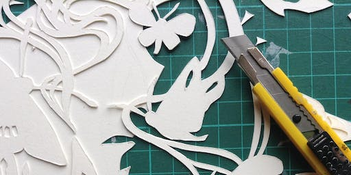 Introduction to Paper Cutting with Chlöe Augusta Needham - Creative workshop for adults // Cyflwyniad i Dorri Papur gyda Chlöe Augusta Needham - Gweithdai i oedolion