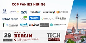 BERLIN TECH JOB FAIR SPRING 2019