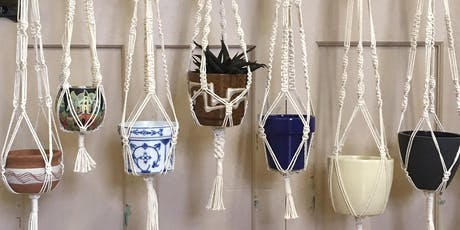 Create your own macramé plant pot hanger with welsheggdesigns - Creative workshop for adults // Creu crog macramé i pot planhigyn gyda welsheggdesigns - Gweithdai i oedolion tickets