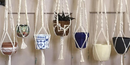 Create your own macramé plant pot hanger with welsheggdesigns - Creative workshop for adults // Creu crog macramé i pot planhigyn gyda welsheggdesigns - Gweithdai i oedolion