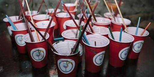 London Paint Party Prosecco Reception