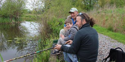 Family Fishing at Bradshaw Hall Fisheries, Bolton