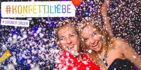 KONFETTIliebe Party, 90er & 2000er * 03.08.19, Grüner Jäger, Hamburg Tickets