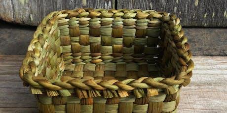 Bulrush basket weaving with Rosie Farey - Creative workshop for adults // Gwehyddu basged llafrwynen gyda Rosie Farey - Gweithdai i oedolion tickets