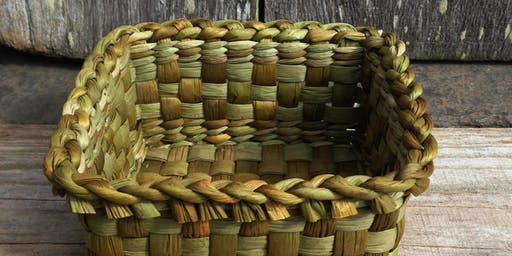 Bulrush basket weaving with Rosie Farey - Creative workshop for adults // Gwehyddu basged llafrwynen gyda Rosie Farey - Gweithdai i oedolion