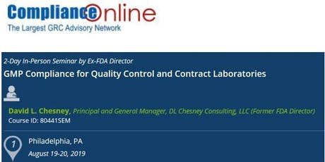 GMP Compliance for Quality Control and Contract Laboratories (COM) tickets