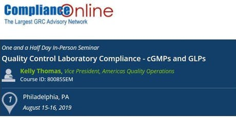 Quality Control Laboratory Compliance - cGMPs and GLPs (COM) tickets