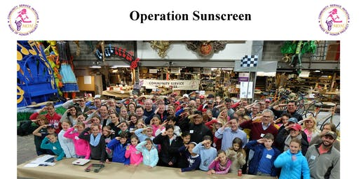 Prep-day Operation Sunscreen Nov 16th - NEW LOCATION!