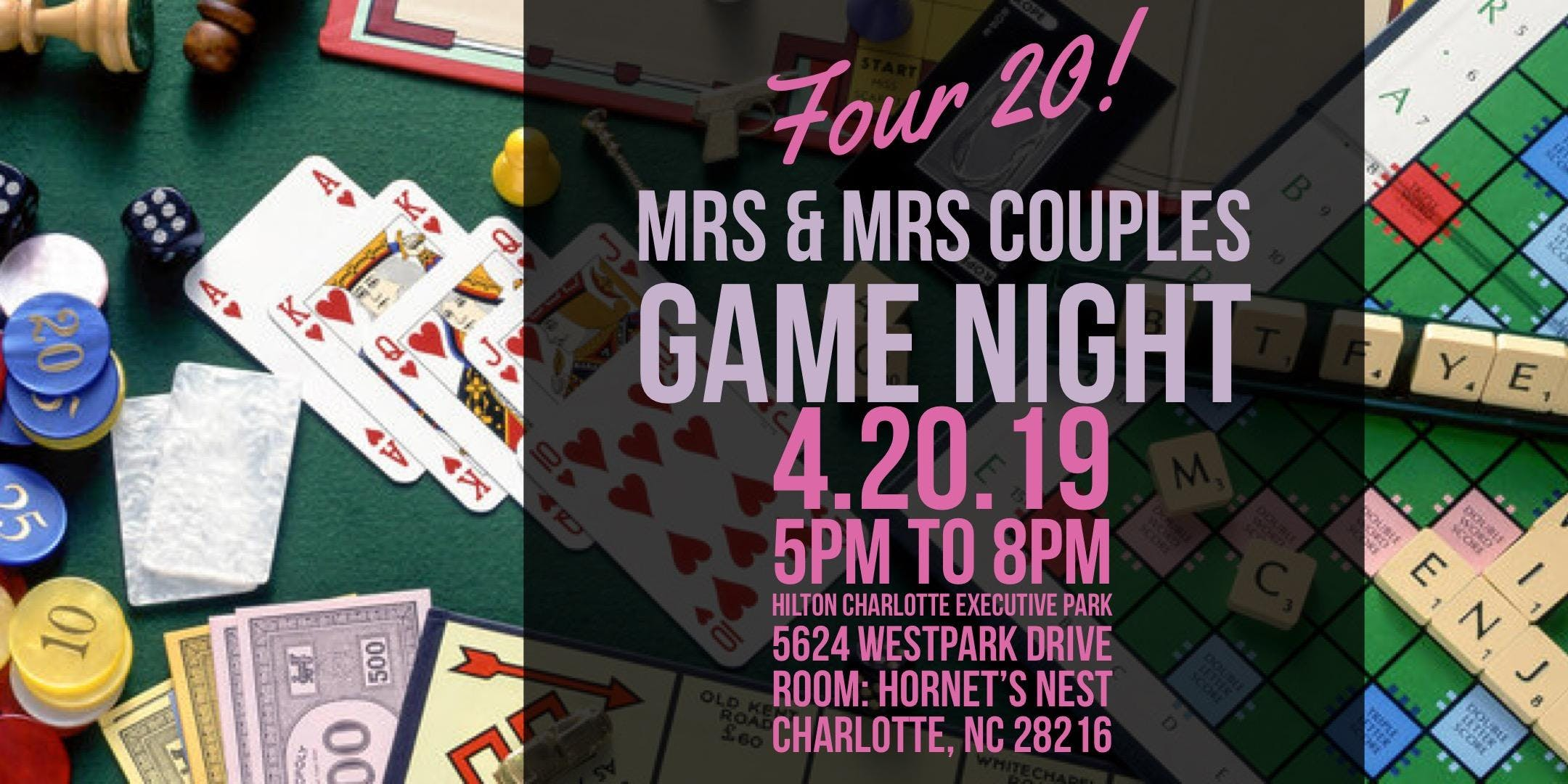 Mrs & Mrs North Carolina Couples Game Night - 20 APR 2019
