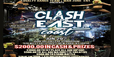 Loyalty Dance Team x War Zone ENT. Presents. The Clash of The East Coast tickets