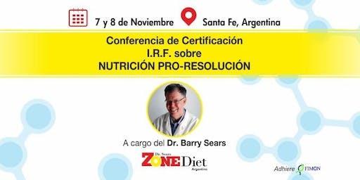 Conferencia de Certificación I.R.F. sobre NUTRICIÓN PRO-RESOLUCIÓN
