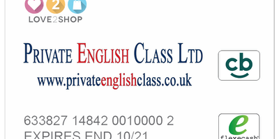 Private English Class Ltd. - Loyalty Card Hand Out Rugby 25th March