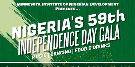 Nigeria's 59th Independence Day Gala tickets