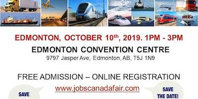 Edmonton Transportation Job Fair - October 10th, 2019