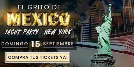El grito Mexicano en el Hudson noche mexicana en yate. tickets