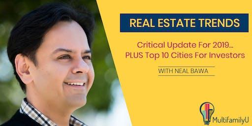 [WEBINAR]RE Trends 2019: Eye Popping Data & Top 10 Cities For Investors