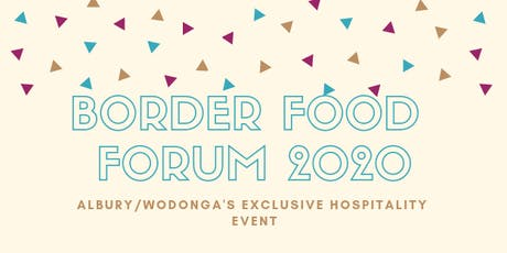 BORDER FOOD FORUM 2020 tickets