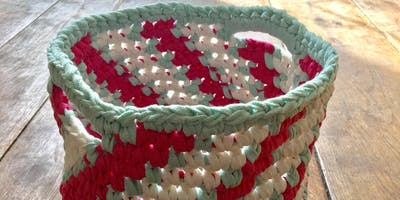 Crochet Candy-Striped Basket Workshop