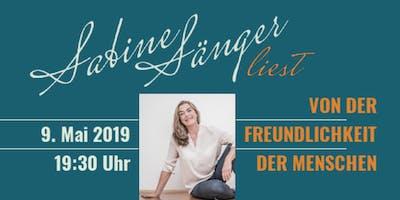 »Von der Freundlichkeit der Menschen«   Lesung mit Sabine Sänger