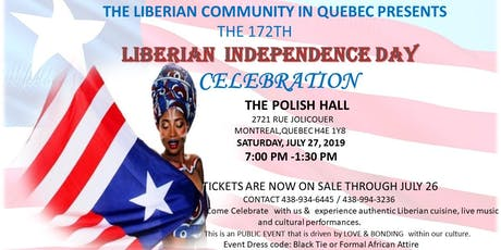 Liberia 172th Independence DAy celebration tickets